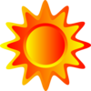 Red Orange And Yellow Sun Clip Art