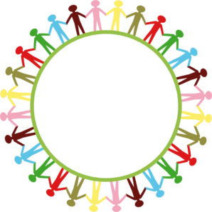 People Around Circle Holding Hands Clip Art
