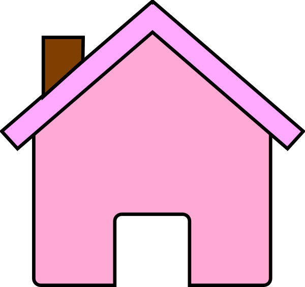 Pink House Clip Art At Clker Com Vector Clip Art Online