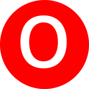 Red, Rounded, With O Clip Art