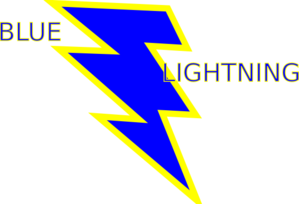 Blue And Gold Lightning Bolt Clip Art