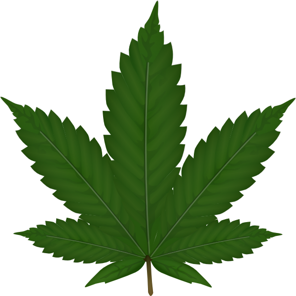 Cannabis leaf clip art at vector clip art for Weed leaf template