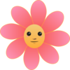 Cute Flower Face Clip Art