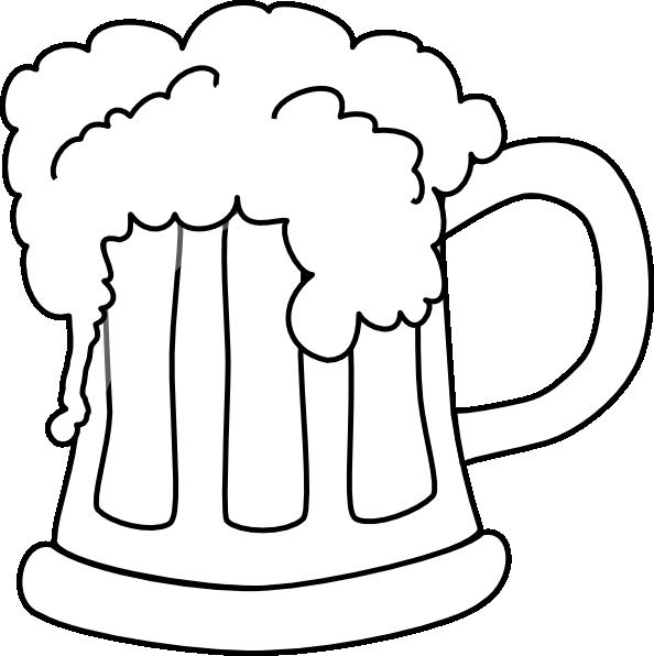 Line Art Jug : Beer mug outlined clip art at clker vector