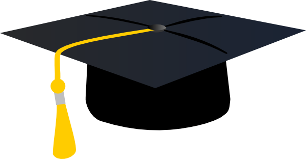 Graduation Hat With Yellow Tassle Clip Art at Clker.com ...