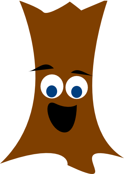 Tree Trunk With Face Clip Art at Clker.com - vector clip ...