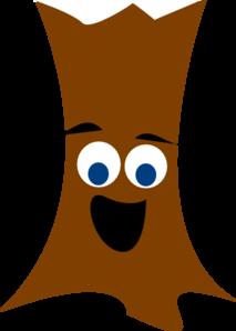 Tree Trunk With Face Clip Art at Clker.com - vector clip ...