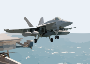 An F/a-18e Super Hornet Assigned To Strike Fighter Squadron One One Five (vfa-115) Launches From One Of Four Steam-powered Catapults Aboard Uss Abraham Lincoln (cvn 72). Clip Art