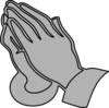 Gray Praying Hands Clip Art