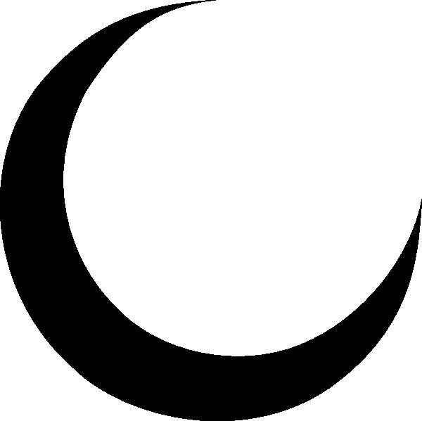 Moon clip art outline