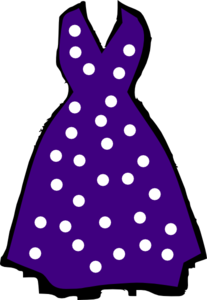Polka Dot Dress Clip Art At Clker Com Vector Clip Art