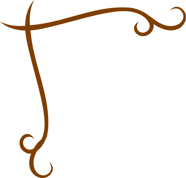 swirl brown corner clip art at clkercom vector clip