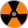Orange Atomic Warning Clip Art
