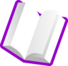 Purple Book Light Pages Clip Art