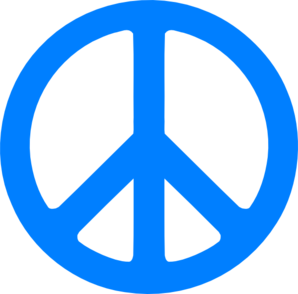 Blue Peace Sign Clip Art