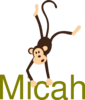 Monkey With Name Clip Art
