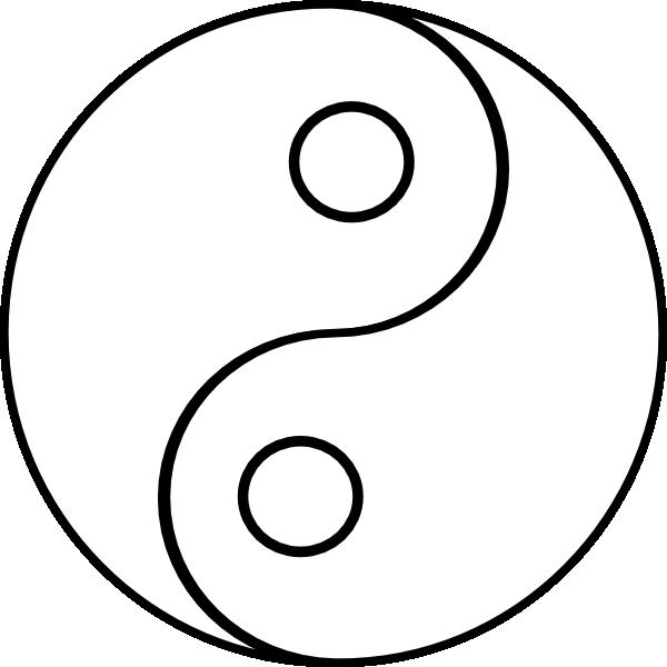 Blank Yin Yang Clip Art at Clker