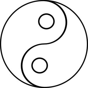 Blank yin yang clip art at vector clip art for Ying yang coloring pages