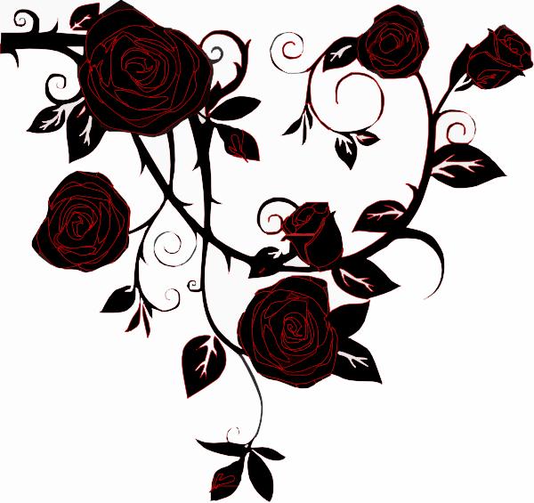 negative black rose clip art at clkercom vector clip
