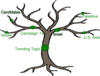 Tree With 3 Branches Clip Art