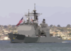 The Guided Missile Cruiser Uss Shiloh (cg 67) Makes Her Way Through The San Diego Bay To Naval Station San Diego Clip Art