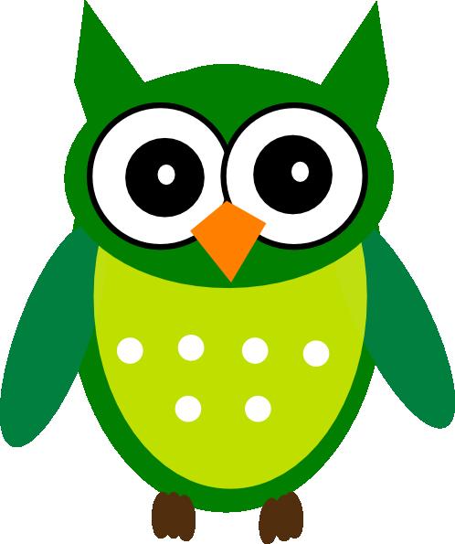 Green Owl Clip Art At Clker.com