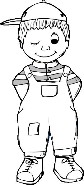 Boy Outline Clip Art At Clker Com Vector Clip Art Online