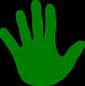 Hand Green Left Clip Art At Clker Com Vector Clip Art