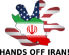 Hands Of Iran! Us Flag And Iranian Flag Clip Art