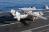 An E-2c Makes A Successful Assisted Landing On The Ship S Flight Deck Clip Art