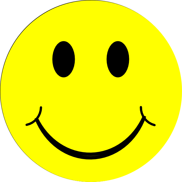 Yellow happy face clip art at vector clip art online royalty free public domain - Clipart visage ...