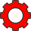 New Cog Red Clip Art