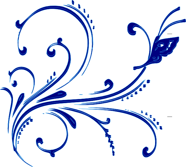 Blue Buttterfly Flourish Clip Art at Clker.com - vector clip art online, royalty free ...