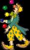 Juggling Clown clip art
