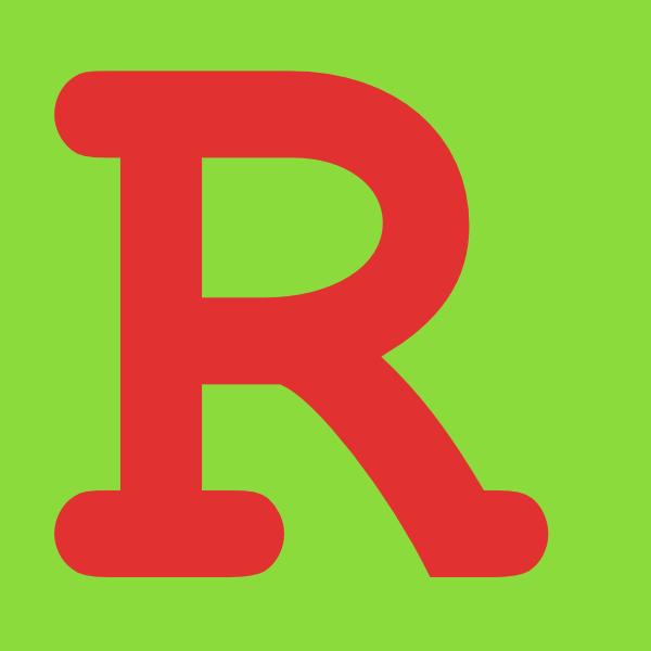 Letter R In Green Background Clip Art At Clker Com