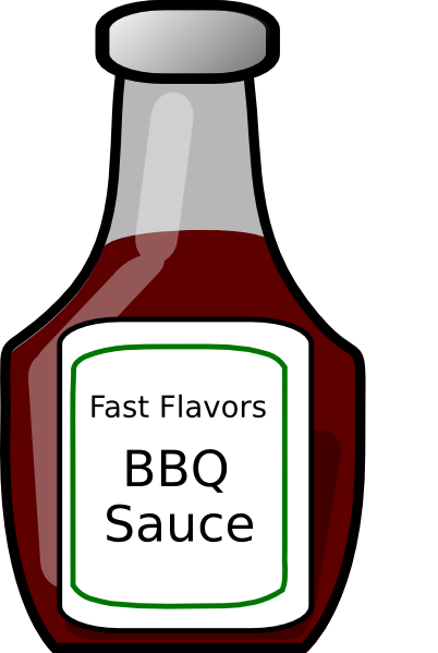 Bbq Sauce Bottle Clip Art at Clker.com - vector clip art ...