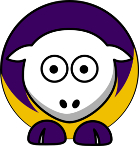 Sheep 3 Toned Minnesota Vikings Colors Clip Art
