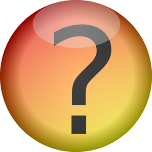 Glossy Question Mark Button Clip Art