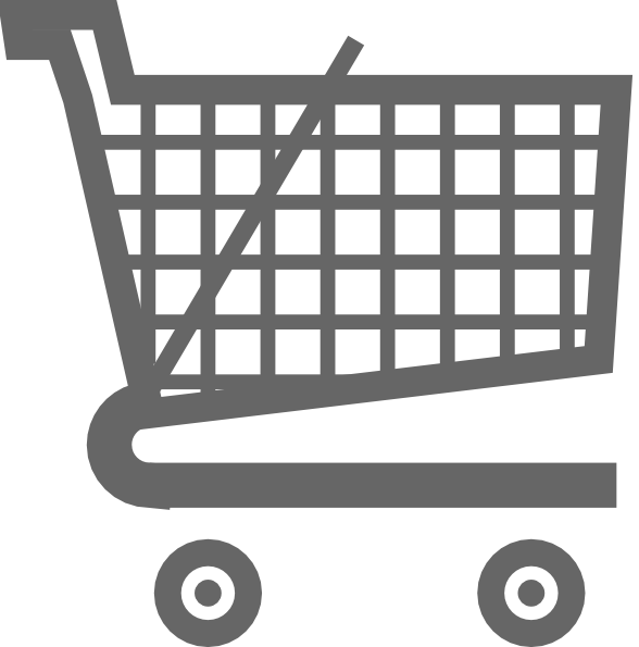 Vector Clipart Shopping Basket : Grey ping cart clip art at clker vector