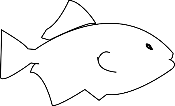 Simple Fish Line Art : Fish sketch clip art at clker vector online