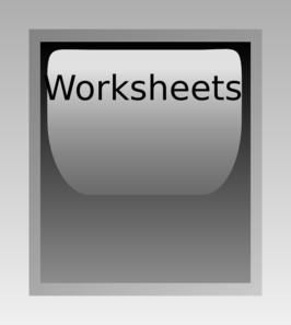 Worksheets Button Grey Clip Art