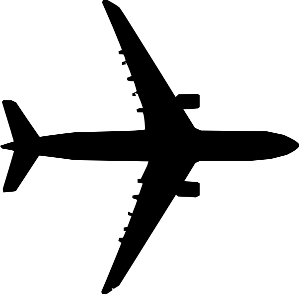 Airplane Top View Clip Art At Clker Com Vector Clip Art