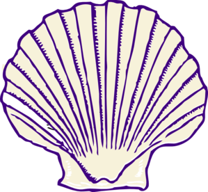 Purple Shell Clip Art