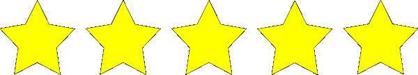 Five Star Rating Clip Art at Clker.com - vector clip art ... (600 x 108 Pixel)