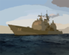 Uss Philippine Sea (cg 58) Conducts Work-ups Clip Art