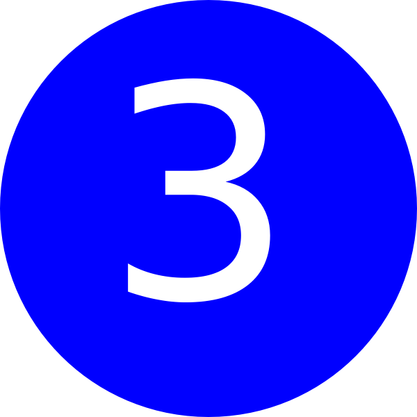 Number 3 Blue Background Clip Art At Clker Com