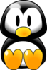 Penguin Sitting Clip Art