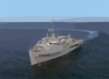 The Austin-class Amphibious Transport Dock Ship Uss Duluth (lpd 6), Underway Off The Coast Of San Diego, Calif. Clip Art