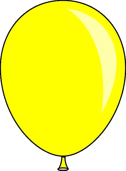 Yellow Baloon Clip Art At Clker Com Vector Clip Art