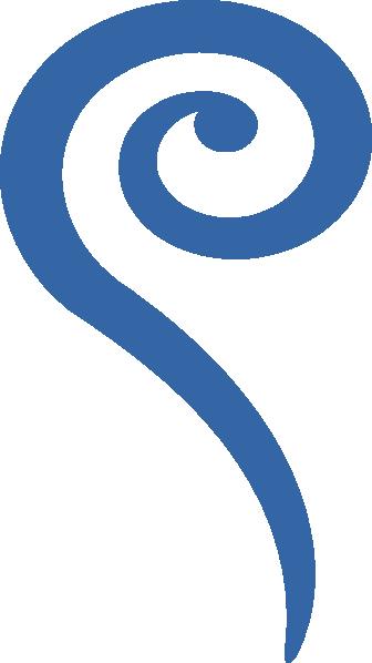 Big Blue Swirl Clip Art At Clker Com Vector Clip Art